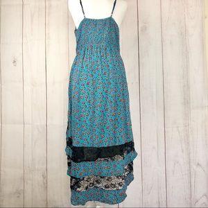 Band of Gypsies Dresses - Band of Gypsies Blue & Orange Floral Dress